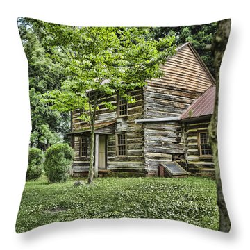 Mary Dells House Throw Pillow by Heather Applegate
