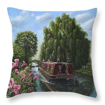 Narrow Boat Throw Pillows