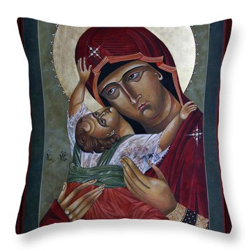 Mary Kadiotissa Throw Pillow