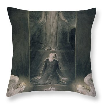 Mary Magdalene At The Sepulchre Throw Pillow