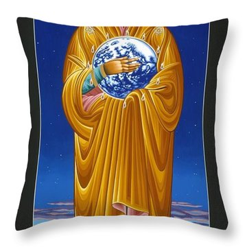 Mary Most Holy Mother Of All Nations 080 Throw Pillow