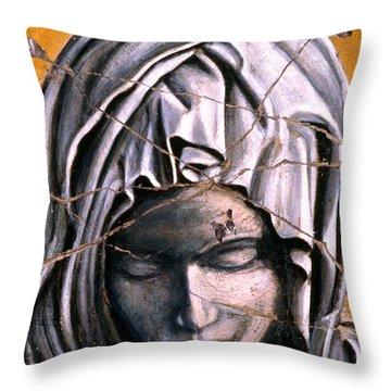 Mary Super Petram - Study No. 1 Throw Pillow by Steve Bogdanoff