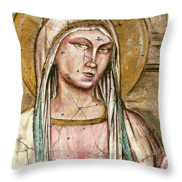 Mary Super Petram - Study No. 2 Throw Pillow by Steve Bogdanoff