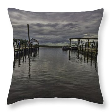 Mary Walker Marina - Stormy Skies Throw Pillow