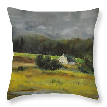 Maryland Barn Throw Pillow by Lindsay Frost