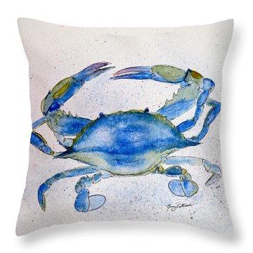 Maryland Blue Crab  Throw Pillow