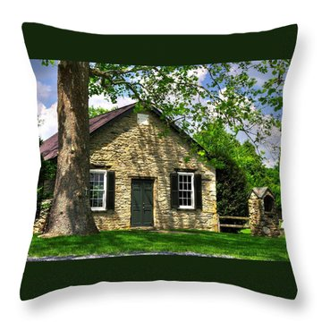 Maryland Country Churches - Fairview Chapel-1a Spring - Established 1847 Near New Market Maryland Throw Pillow