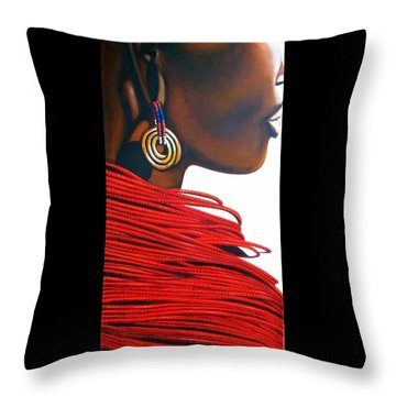 Masai Bride - Original Artwork Throw Pillow