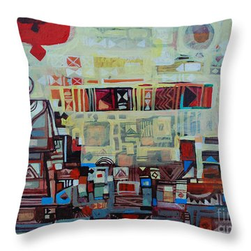 Maseed Maseed 2 Throw Pillow by Mohamed Fadul