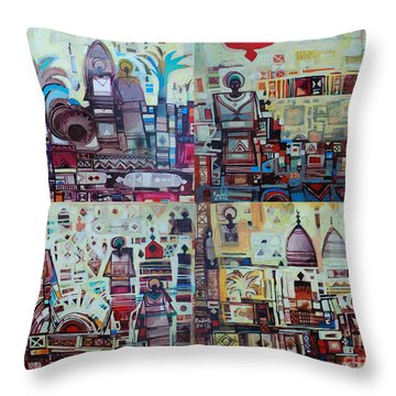 Maseed Maseed 3 Throw Pillow by Mohamed Fadul