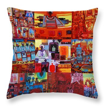 Maseed Maseed 4 Throw Pillow by Mohamed Fadul