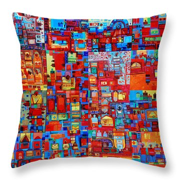 Maseed Maseed Throw Pillow by Mohamed Fadul