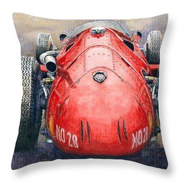 Maserati 250f Back View Throw Pillow