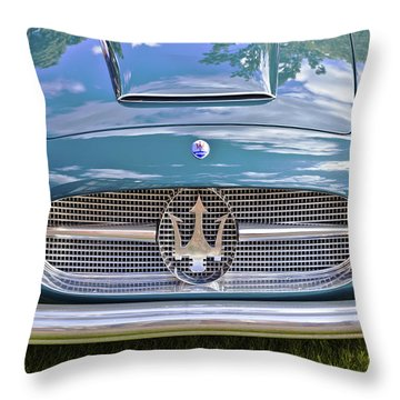 Maserati A6g 54 2000 Zagato Spyder 1955 Throw Pillow by Maj Seda