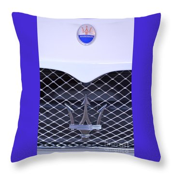 Maserati Emblems Throw Pillow by Pamela Walrath