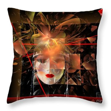 Mask 0145 Marucii Throw Pillow