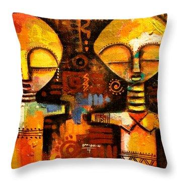Mask 5 Throw Pillow