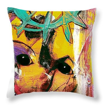 Mask Throw Pillow