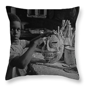 Mask Maker Throw Pillow