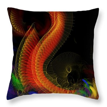 Mask Making Throw Pillow by Lena Wilhite