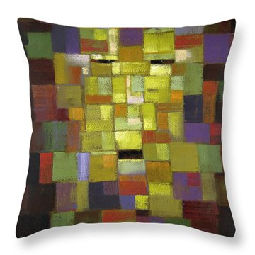 Mask Of Color Throw Pillow