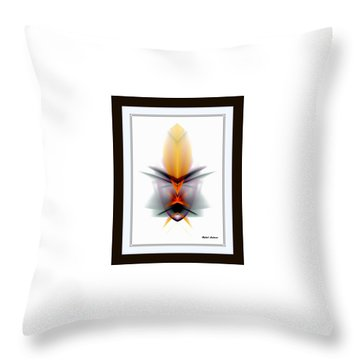 Throw Pillow featuring the mixed media Mask by Rafael Salazar