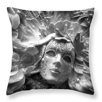 Masked Angel Throw Pillow