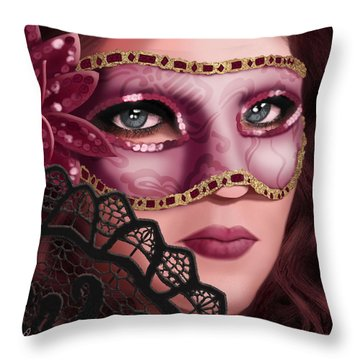 Masked II Throw Pillow