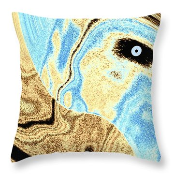 Masked- Man Abstract Throw Pillow
