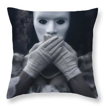 Masked Woman Throw Pillow by Joana Kruse