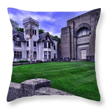 Masonic Lodge Throw Pillow by Paul Ward