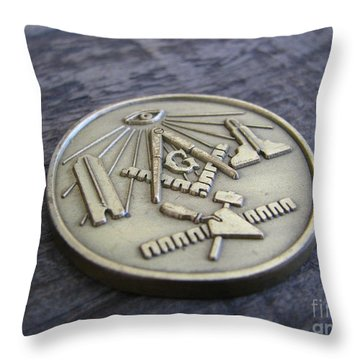 Masonic Medal Throw Pillow