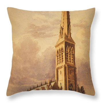 Masonry Church Circa 1850 Throw Pillow