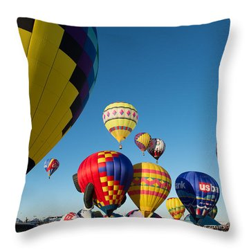 Mass Launch Throw Pillow
