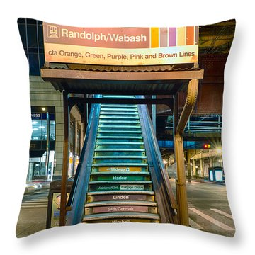 Mass Transit Throw Pillow by Sebastian Musial