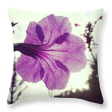 Natures Microscope Throw Pillow