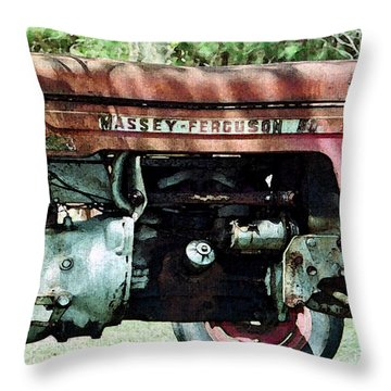 Massey-ferguson Throw Pillow