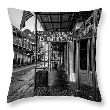 Maison Bourbon Jazz Club 2 Throw Pillow