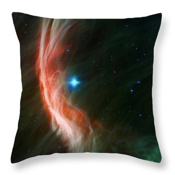 Massive Star Makes Waves Throw Pillow