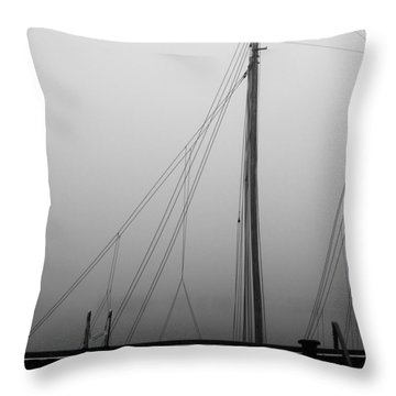 Mast And Rigging Throw Pillow by Bob Orsillo