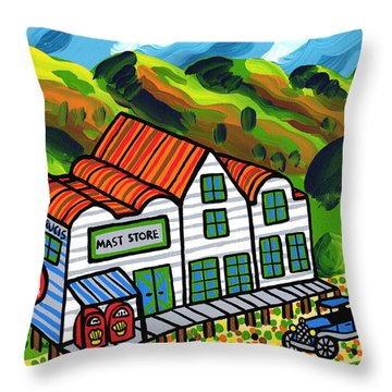 Mast Store Valle Crucis North Carolina Throw Pillow