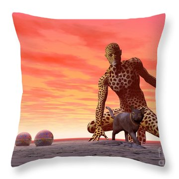 Master And Servant - Surrealism Throw Pillow