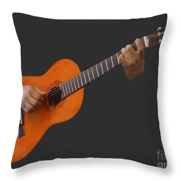Throw Pillow featuring the photograph Master De Musique by B Wayne Mullins