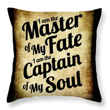 Master Of My Fate - Old Parchment Style Throw Pillow