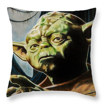 Master Yoda Throw Pillow by Brian Broadway