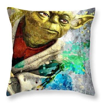 Master Yoda Throw Pillow by Daniel Janda