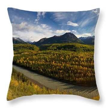 Mat-su Bend 2 Throw Pillow by Ed Boudreau
