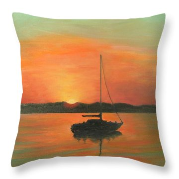 Matanzas Bay Sunrise Throw Pillow