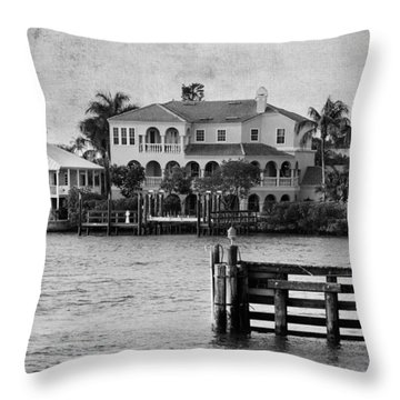 Matanzas Pass - Fort Myers Beach - Florida Throw Pillow