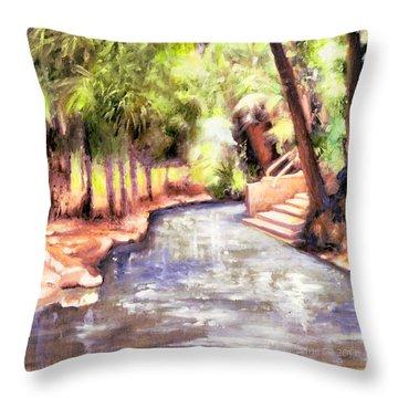 Mataranka Hot Springs Throw Pillow